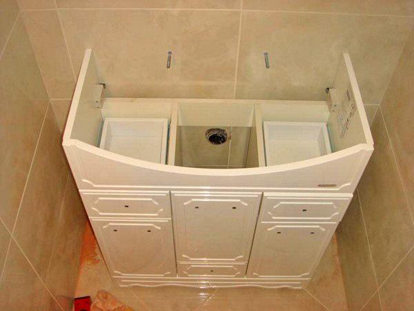 Тумбочка под раковину в ванную своими руками