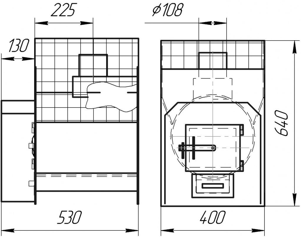 Печь для бани своими руками из трубы 530 чертежи 81