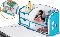 Детский стол Aivengo оснащен большой вмеcтительной надстройкой с полочками, нишами и ящиками.