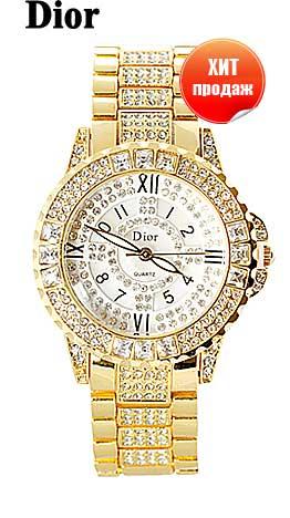 Женские часы Christian Dior, золотые часы со стразами, роскошь на вашей руке, лучшее предложение на российском рынке