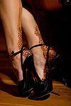 мехенди на ноге, рисунок на ноге хной