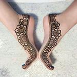 мехенди, рисунок на ноге хной