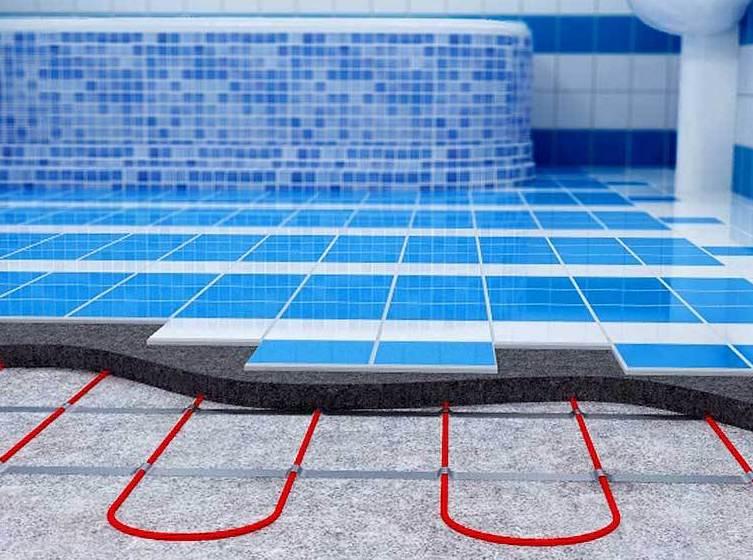 Теплые водяные полы в ванной видео