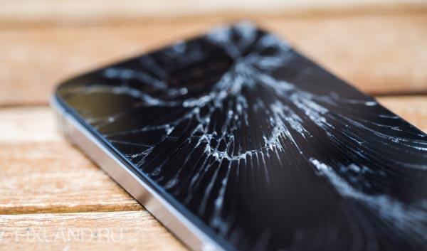 разбитый дисплей iphone 5