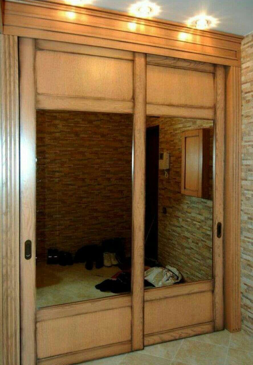 Встроенный шкаф своими руками фото из дерева