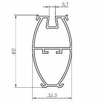 Чертеж профиль радиусный в шкаф вертикальный Нарайна