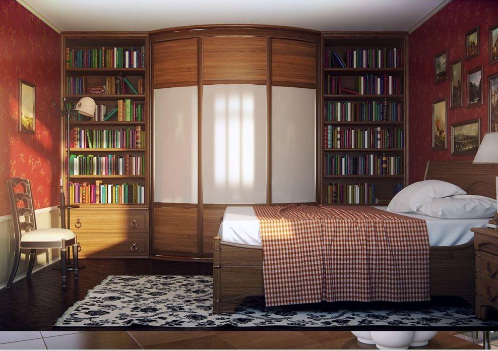 Радиусные шкафы библиотеки.
