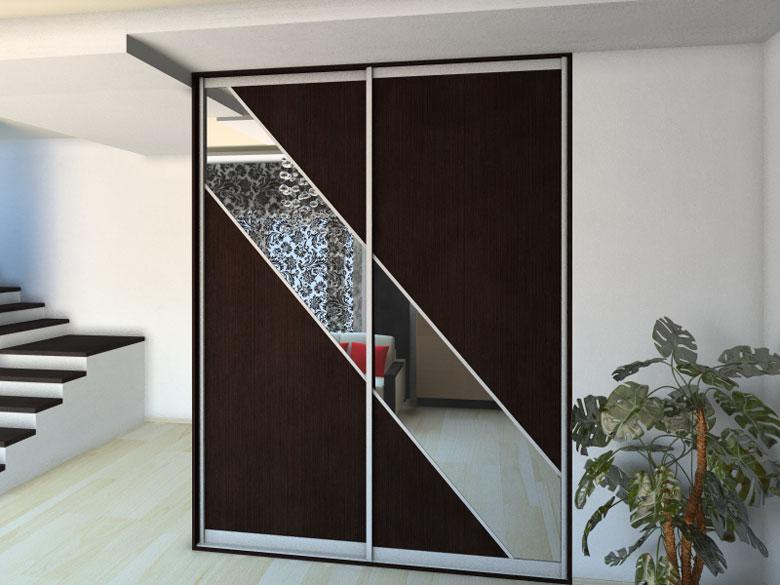 Шкаф-купе стенли с зеркалом древляне - корпусная мебель от п.