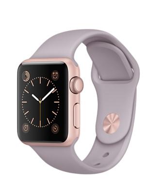 Apple Watch Sport, алюминий цвета «розовое золото», спортивный ремешок сиреневого цвета