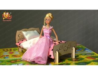 """Мебель для Барби Дома """"Чудо-кровать"""""""