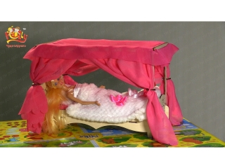"Мебель для Барби Дома ""Чудо-кровать с балдахином"""