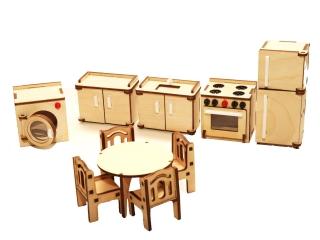 """Мебель для кукольного домика """"Кухня"""""""