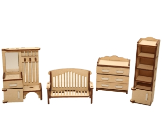 """Мебель для кукольного домика """"Прихожая"""""""