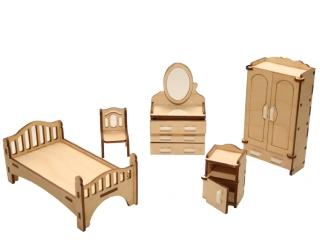 """Мебель для кукольного домика """"Спальня"""""""