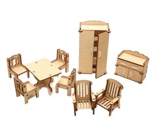 """Мебель для кукольного домика """"Зал"""""""