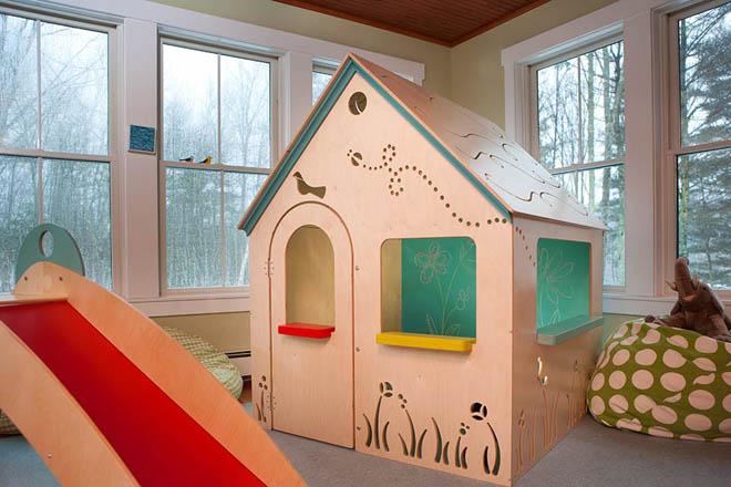 Детский домики из фанеры фото