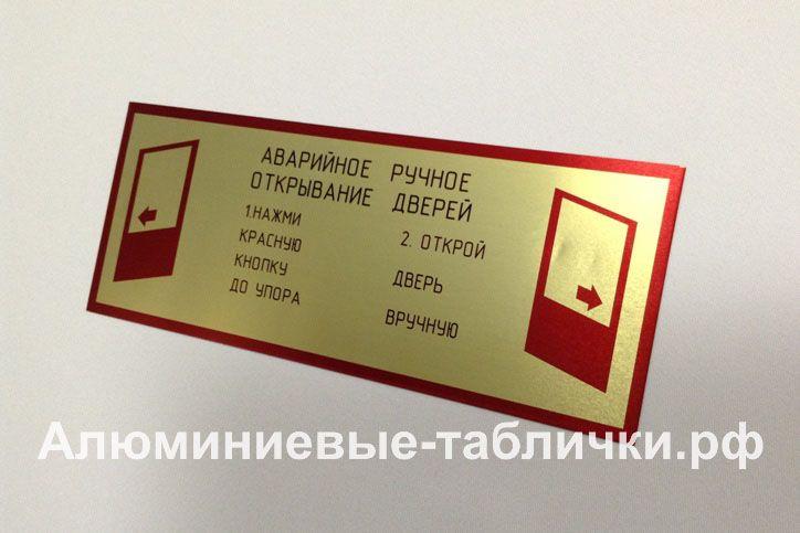 Пожарные предупреждающие знаки из алюминия. Изготовление табличек на заказ.