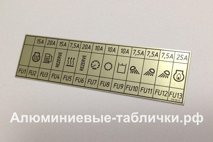 Шильдики, таблички из алюминия на заказ. Изготовление металлических шильдов, панелей приборов.