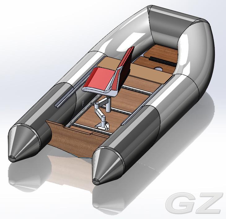 стойка для сидения в лодку 240 нержавейка