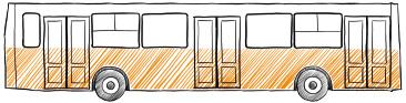 пример реклама на городских автобусах