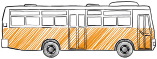 пример реклама на автобусах