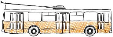 пример реклама на троллейбусах