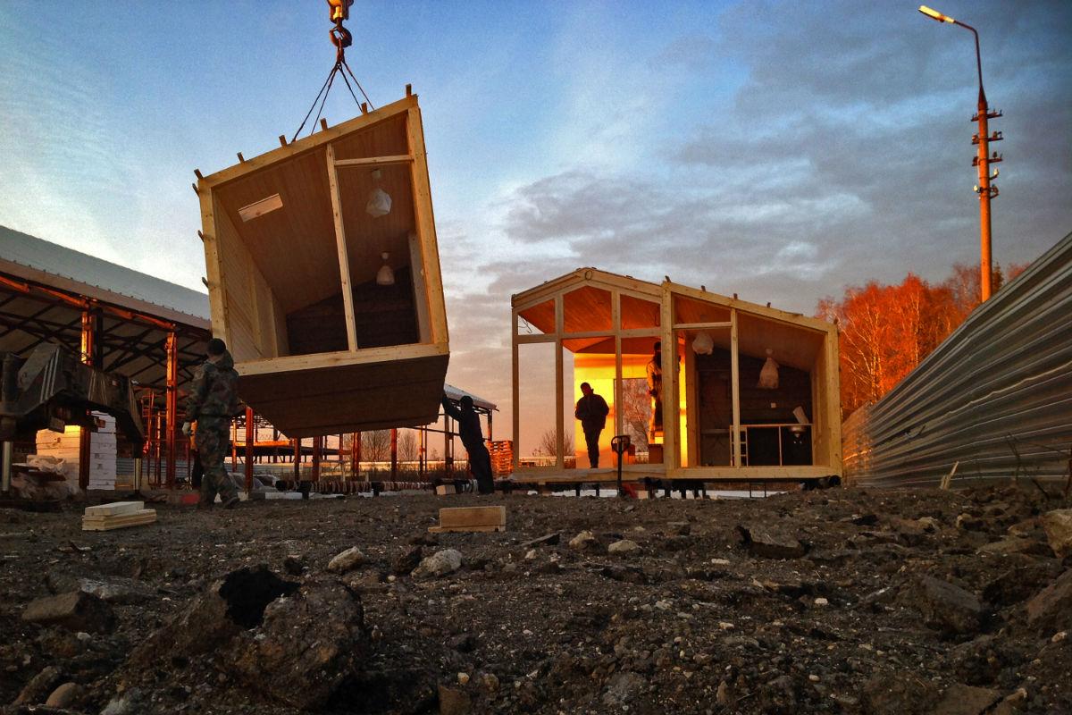 Модульное строительство дома