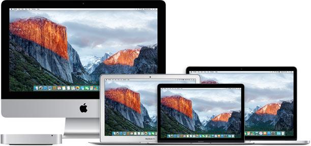Сравнение всех моделей Mac