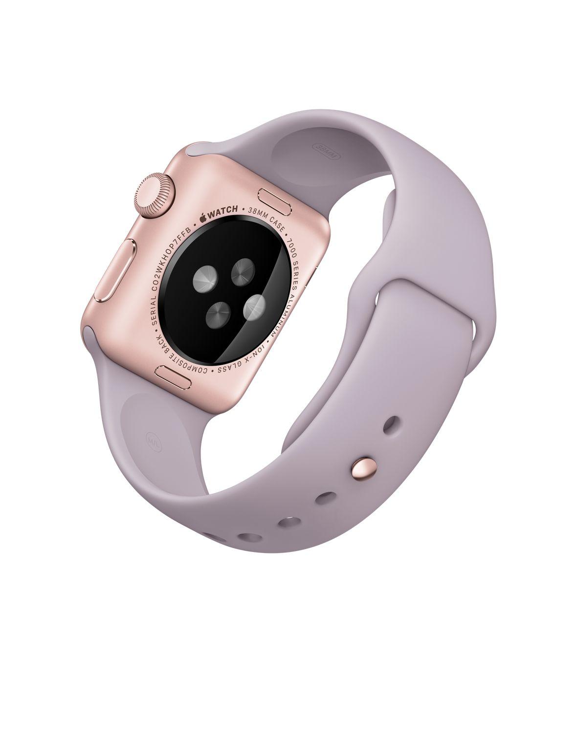 Apple Watch Sport 38mm Rose Gold with Lavender Sport Band (MLCH2), Эппл Вотч Спорт 38мм Розовое золото с спортивным ремешком (MLCH2)