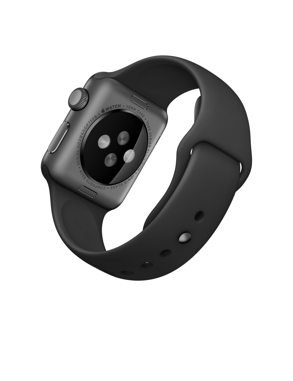 Apple Watch Sport 42mm Space Gray with Black Sport Band (MJ3T2), Эппл Вотч Спорт 42мм Темно серые с спортивным ремешком (MJ3T2)