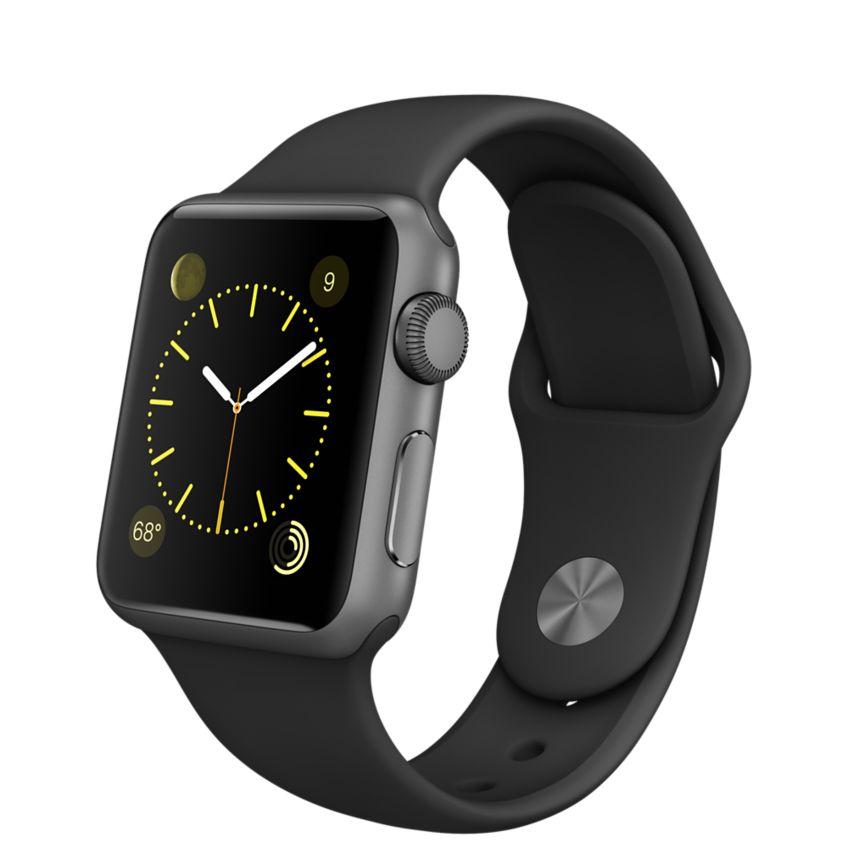 Apple Watch Sport 38mm Space Gray with Black Sport Band (MJ2X2), Эппл Вотч Спорт 38мм Темно серые с спортивным ремешком (MJ2X2)
