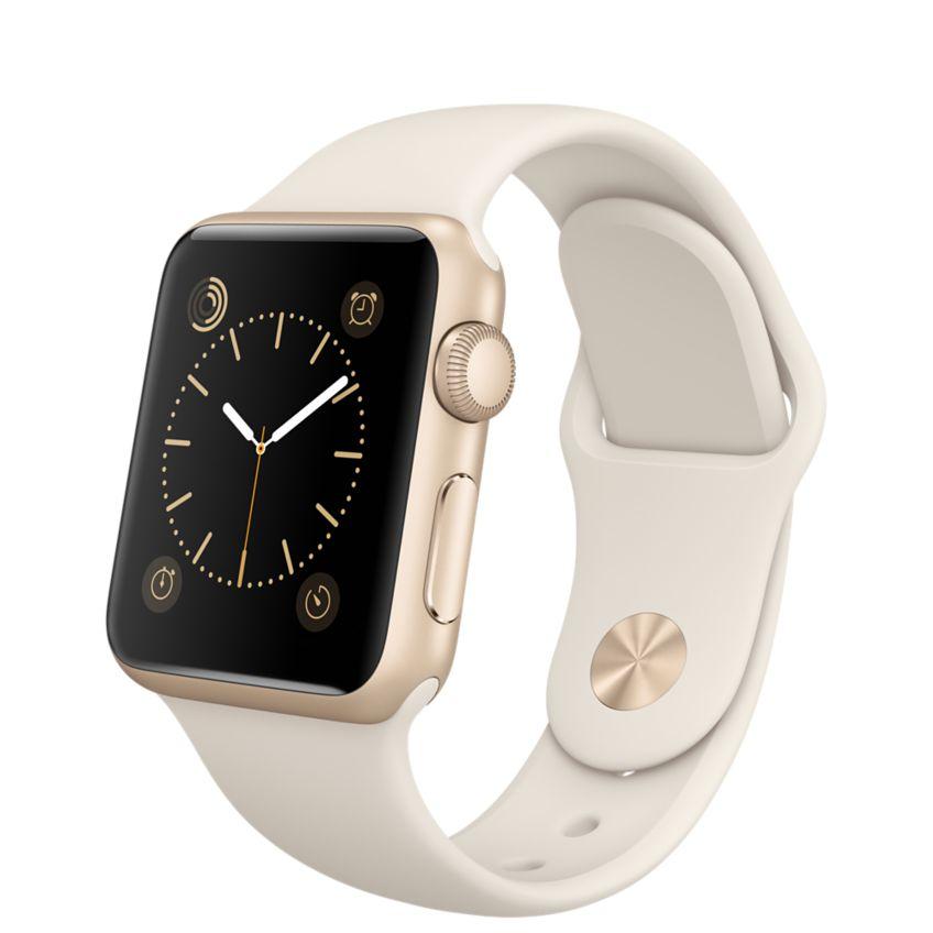 Apple Watch Sport 38mm Gold with White Sport Band (MLCJ2), Эппл Вотч Спорт 38мм Золотые с спортивным ремешком (MLCJ2)