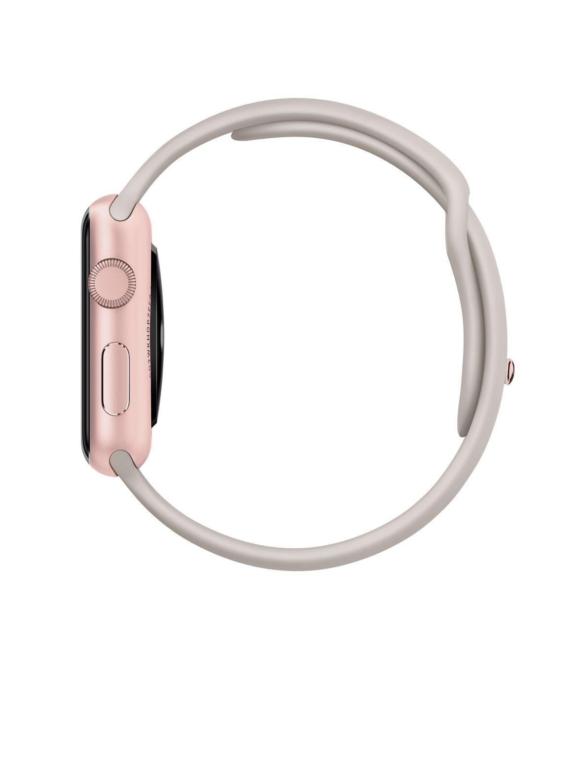 Apple Watch Sport 42mm Rose Gold with Stone Sport Band (MLC62), Эппл Вотч Спорт 42мм Розовое золото с спортивным ремешком (MLC62)