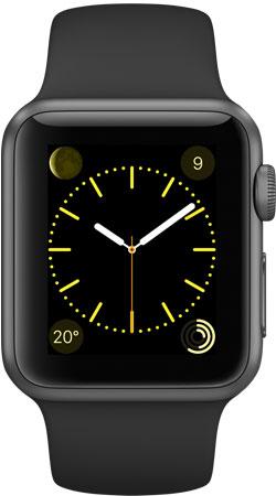 Apple Watch Sport 38mm Space Gray MJ2X2, Эппл Вотч Спорт 38мм Темно серые MJ2X2