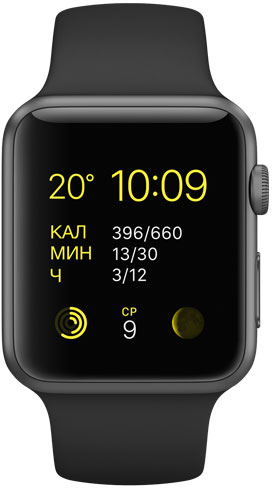 Apple Watch Sport 42mm Space Gray MJ3T2, Эппл Вотч Спорт 42мм Темно серые MJ3T2