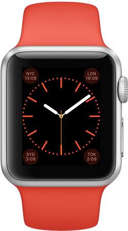 Apple Watch Sport 38mm Orange MLCF2, Эппл Вотч Спорт 38мм Оранжевые MLCF2