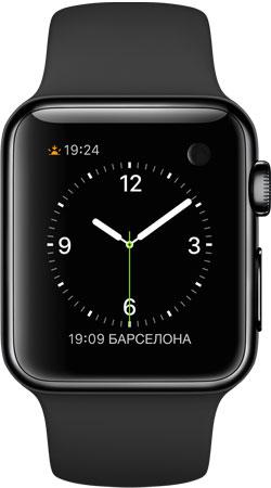 Apple Watch 38mm Black MLCK2, Эппл Вотч 38мм Черная сталь MLCK2