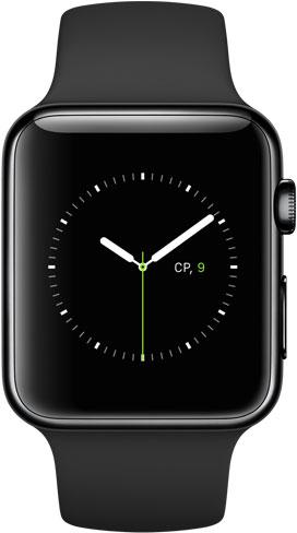 Apple Watch 42mm Black MLC82, Эппл Вотч 42мм Черная сталь MLC82