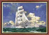 корабли море парусники