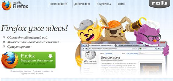 Firefox: информативная кнопка