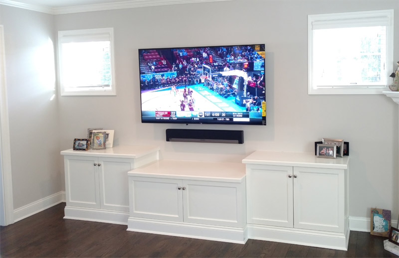 Our installation in Long Island. Sonos home theater.