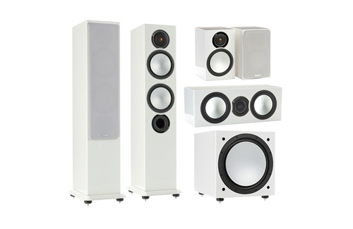 Classic bookshelf and floorstanding speakers