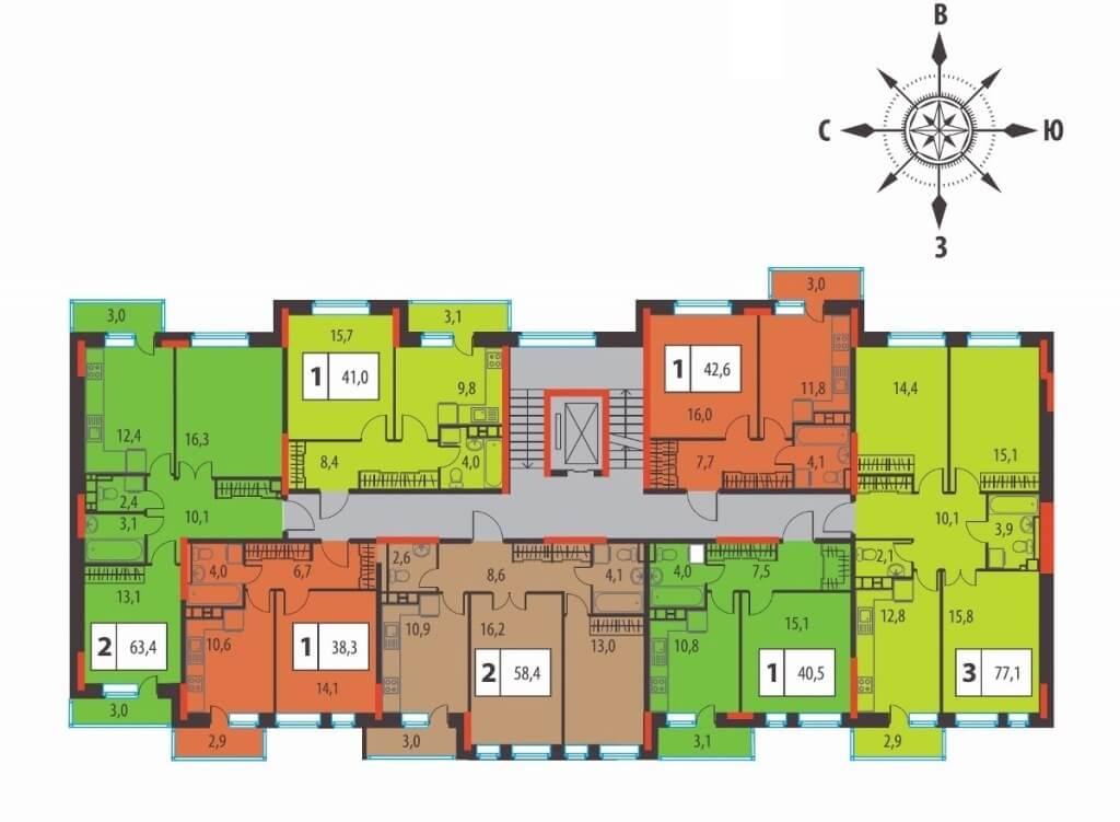 Планировки ЖК Европейские кварталы Талан