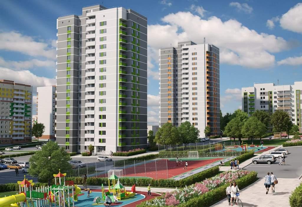 Новые дома на ул. Берша в ижевске