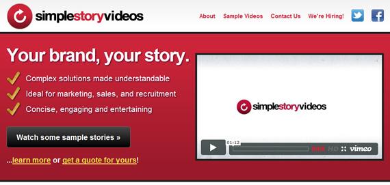 Целевая страница с видео-роликом