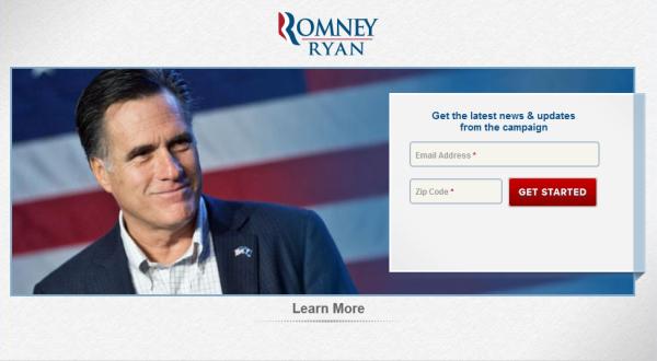 целевая страница Митта Ромни