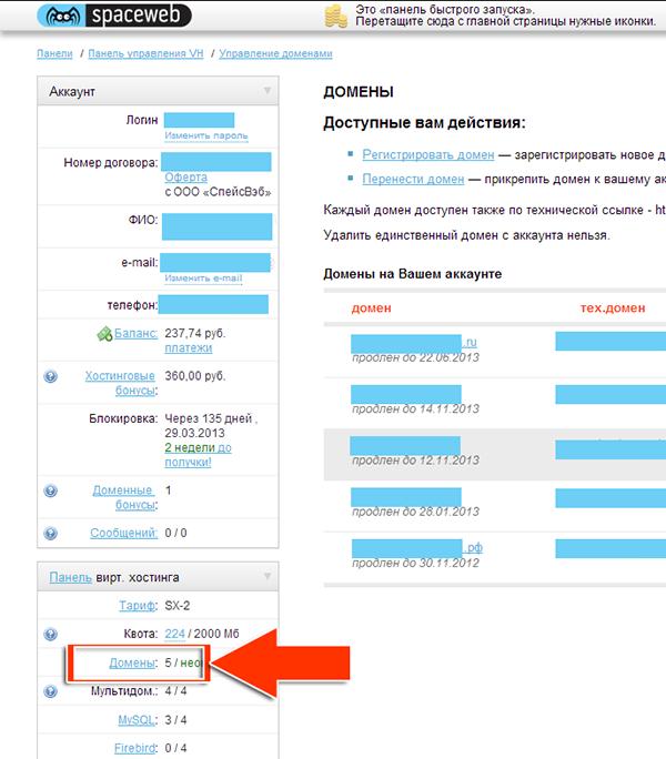Иллюстрация к статье: Привязка домена и поддомена в панели spaceweb.ru
