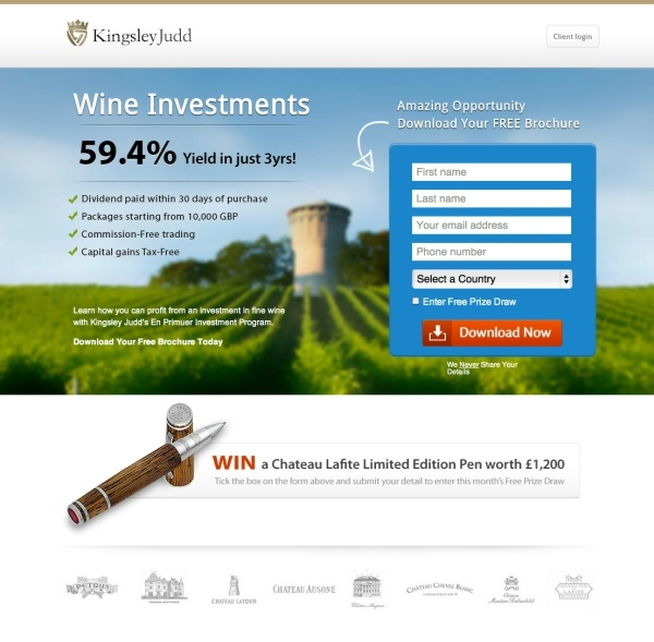 Kingsley Judd Wine Investments