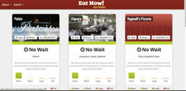 Веб-приложение EatNowNOLA.co