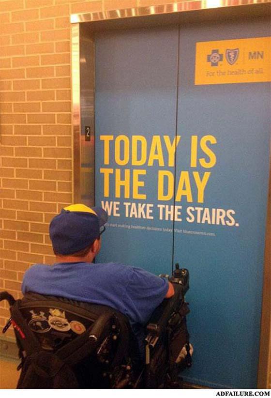 «Сегодня тот самый день, когда мы все пользуемся лестницами»